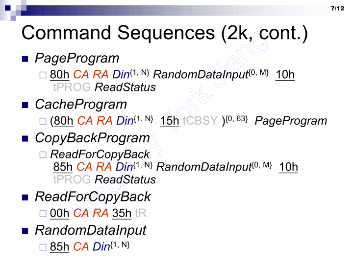 Command Sequences (2k, cont.)
